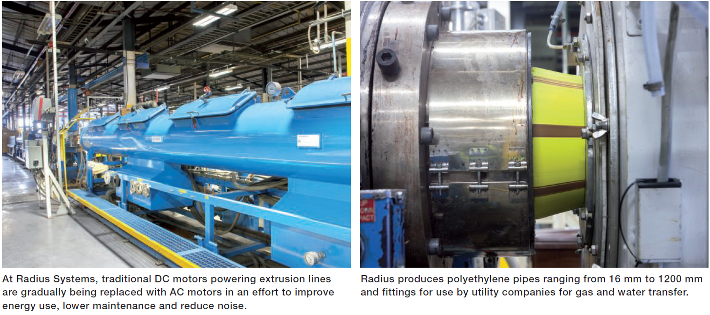 SynRM Improves Energy Use, Reduces Maintenance And Lowers Noise In Pipe Extruder